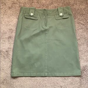 Lillie Rubin Ladies Khaki Green W/ Decor Skirt
